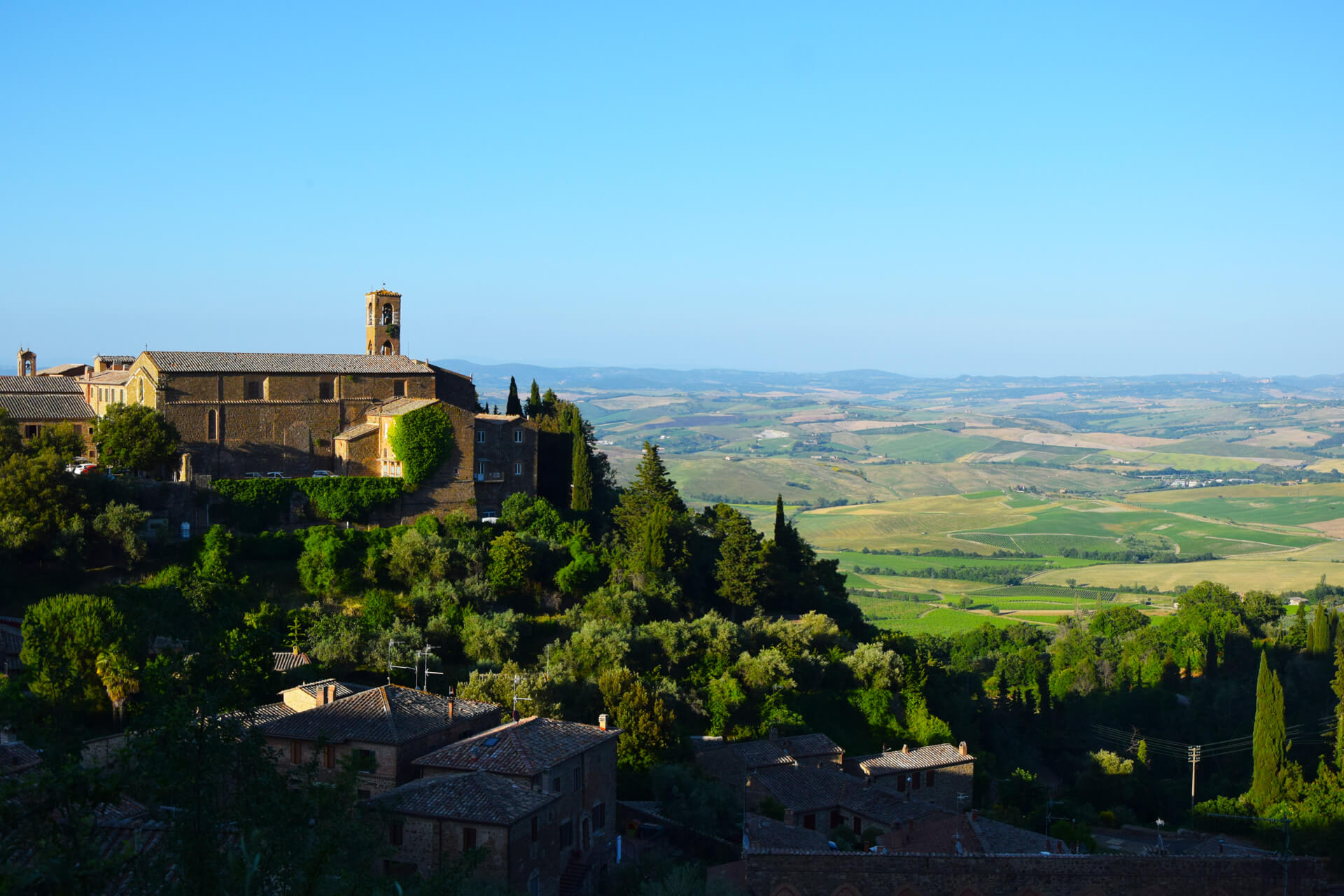 The historical town of Montalcino